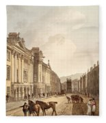 Milsom Street, From Bath Illustrated Fleece Blanket