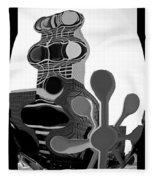 Milwaukee In Abstract Fleece Blanket