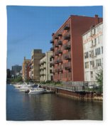 Milwaukee River Architechture 1 Fleece Blanket