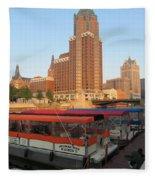 Milwaukee River Theater District 5 Fleece Blanket
