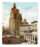 Milwaukee's Wisconsin Street 1899 Fleece Blanket