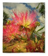 Mimosa Blossoms Fleece Blanket