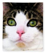 Mina's Green Eyes Fleece Blanket