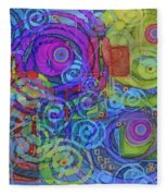 Out Of My Mind Fleece Blanket