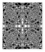B W Sq 5 Fleece Blanket