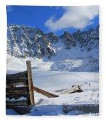 Mine Relics In The Snow Fleece Blanket