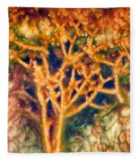 Mineral Branches Hot Springs Fleece Blanket