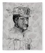 Miner's Lamp Patent Fleece Blanket