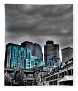 Miner's Landing On Pier 57 - Seattle Washington Fleece Blanket