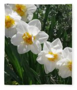 Miner's Wife Daffodils Fleece Blanket