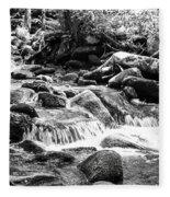 Mini Cascades Smoky Mountains Bw Fleece Blanket