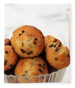Mini Chocolate Chip Muffins And Milk - Bakery - Snack - Dairy - 3 Fleece Blanket