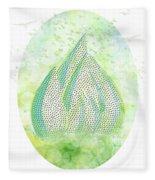 Mini Forest With Birds In Flight - Illustration Fleece Blanket