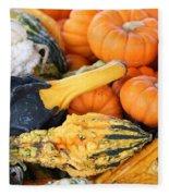 Mini Pumpkins And Gourds Fleece Blanket