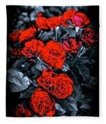Mini Roses On Walk Fleece Blanket