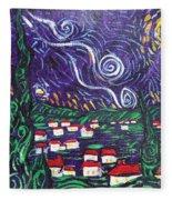 Mini Starry Night Fleece Blanket