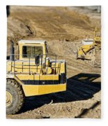 Miniature Construction Site Fleece Blanket