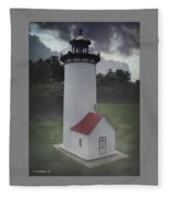 Miniature Lighthouse Fleece Blanket