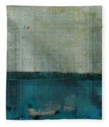 Minima - S02b Turquoise Fleece Blanket