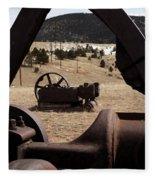 Mining Equipment Fleece Blanket