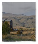 Mining In Butte Fleece Blanket