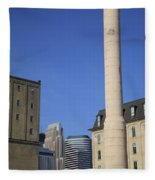 Minneapolis Smokestack Fleece Blanket