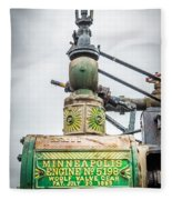 Minneapolis Steam Engine Fleece Blanket