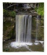 Minneopa Falls 37 Fleece Blanket