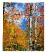Minnesota Autumn Foliage Fleece Blanket