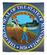 Minnesota State Seal Fleece Blanket