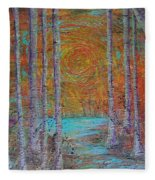 Minnesota Sunset Fleece Blanket