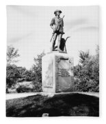 Minuteman Statue Fleece Blanket