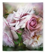Miracle Of A Rose - Mauve Fleece Blanket