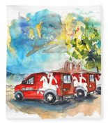 Miranda Do Douro Post Cars Fleece Blanket