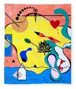 Miro Miro On The Wall Fleece Blanket