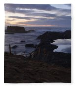 Mirror At Glass Beach Fleece Blanket