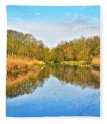 Mirror Canal Fleece Blanket
