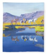Mirror In The Cairngorms Fleece Blanket