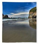 Mirror In The Sand Fleece Blanket