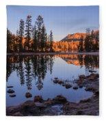 Mirror Lake Dawn Fleece Blanket