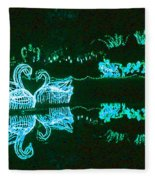 Mirror Lake Reflections In Teal Fleece Blanket