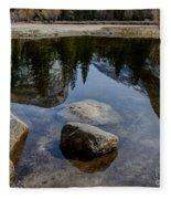 Mirror Lake Threesome 2 Yosemite Fleece Blanket
