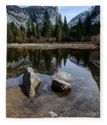 Mirror Lake Threesome 3 Yosemite Fleece Blanket