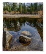 Mirror Lake Threesome Yosemite Fleece Blanket