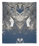 Mirror Of Snow  Fleece Blanket