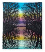 Mirror Water Fleece Blanket