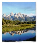 Mirrored Beauty Fleece Blanket