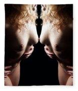 Mirrored Nude Beauty Fleece Blanket