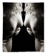 Mirrored Nude Beauty Fleece Blanket