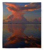 Mirrored Thunderstorm Over Navarre Beach At Sunrise On Sound Fleece Blanket